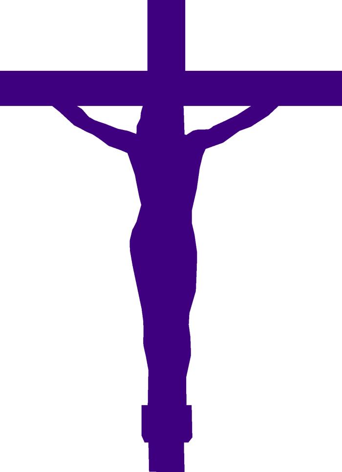 A purple cross